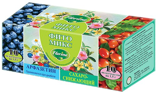 Чай «Фито Микс»: «Арфазетин» и «Сахароснижающий»