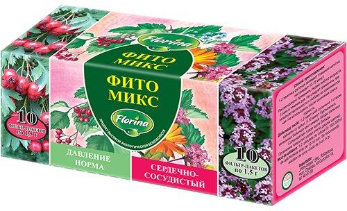 Чай «Фито Микс»: «Давление норма» и «Сердечно-сосудистый»