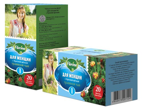 Травяной чай № 127 «Для женщин-1» с красной щеткой